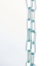 Aquamarine Murano Glass Chain