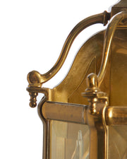 Pair Brass 3 Lite Sconces Covered Porch