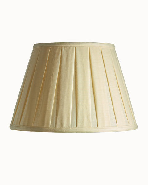 Oxford Empire Box Pleat Ivory Linen Lampshade
