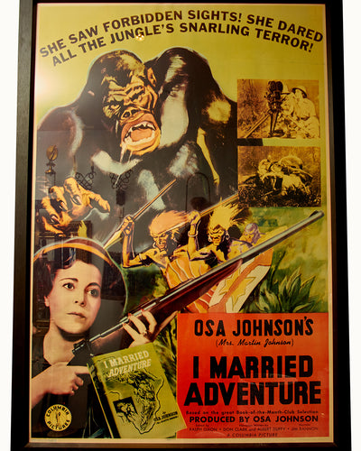 HUGE I Married Adventure Movie Original Poster Osa Johnson