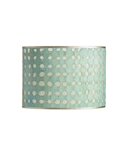 Small Oval Bark Paper - Weave - Aqua Blue