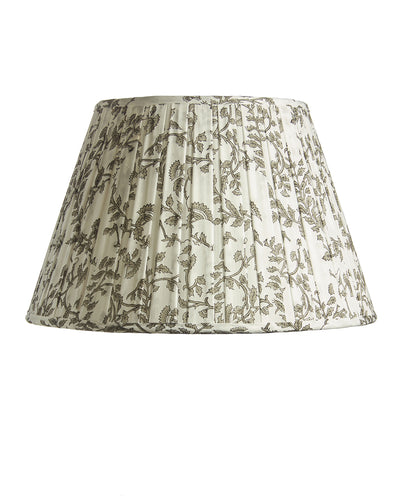 Empire Indian Cotton Hand Block Sanganeri Printed Voile Box Pleat Lampshade