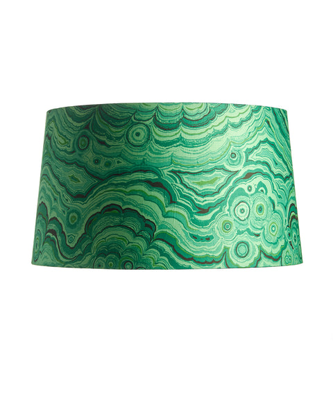 Vintage Tony Duquette Malachite Fabric Drum Lampshade