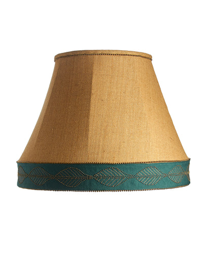 X Large Empire Cuffed Gold Burlap Lampshade