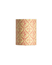 Mini Drum Red and Cream Ivy Heraldic Lion Lampshade