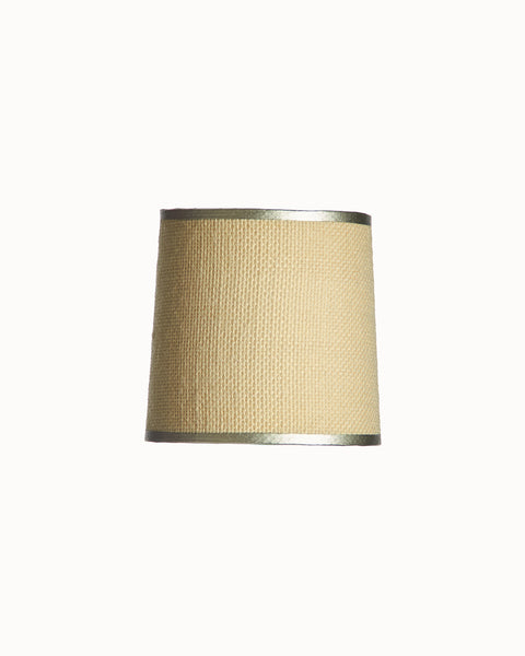 Mini Empire White Burlap Lampshade