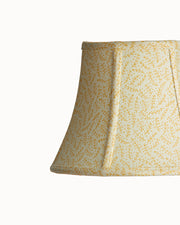 Empire Bell Hill Brown Light Yellow Stretched and Piped Lampshade