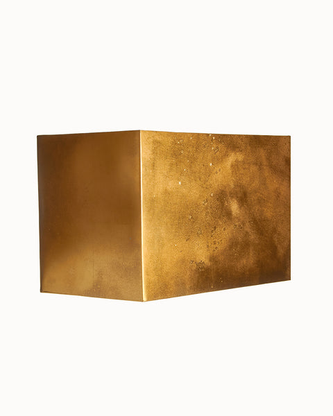 Gold Leaf Paneled Sharp Corner Rectangle Lampshade