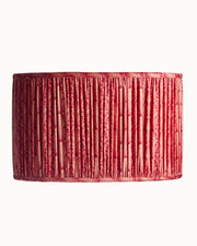 Drum Oval Red Print Schumacher Lampshade