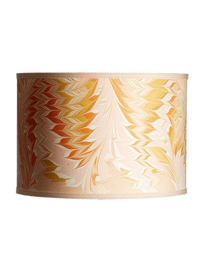 Cylinder Pulled Feather Marble Design Lampshade