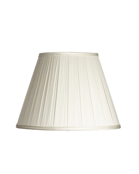 Empire Open Box Pleat Ivory Dupioni Lampshade