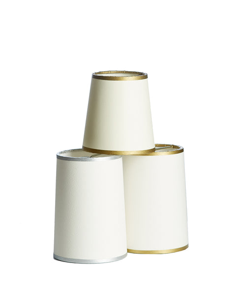 Cylinder Aquarelle Card Chandelier Lampshade with Gold or Silver Hand Painted Tape