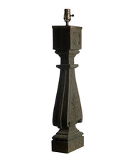 Pair Architectural Iron Balustrade Lamps