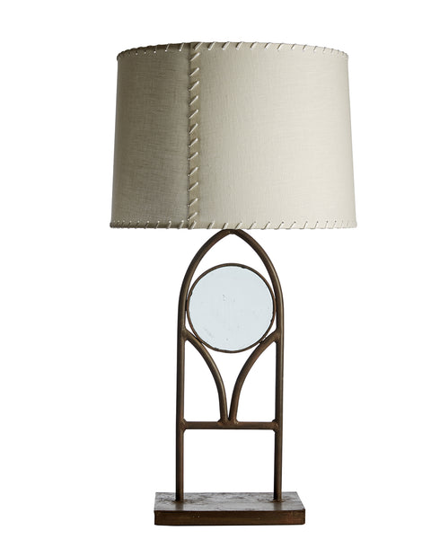 Pair of Lancet Iron and Glass Table Lamps