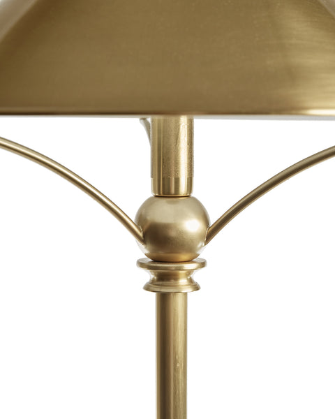 Brass Reading Lamp and Shade