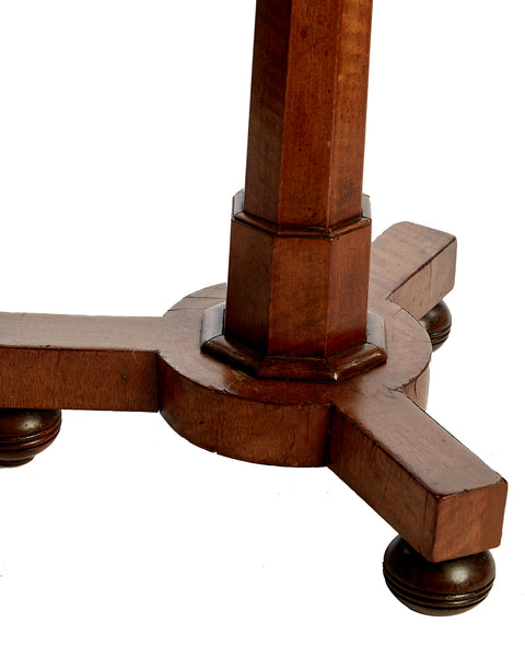 Pedestal Table Antique Column Design Mahogany