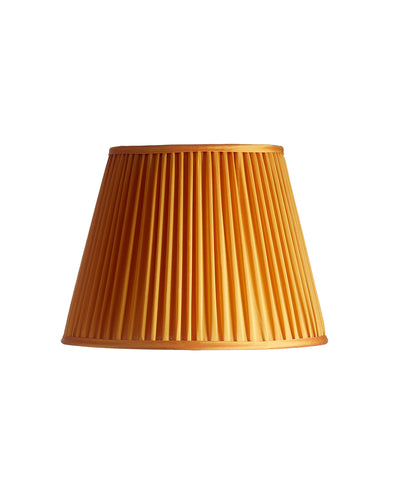 Orange Parrot Cotton Silk Shirred Pleat Lampshade