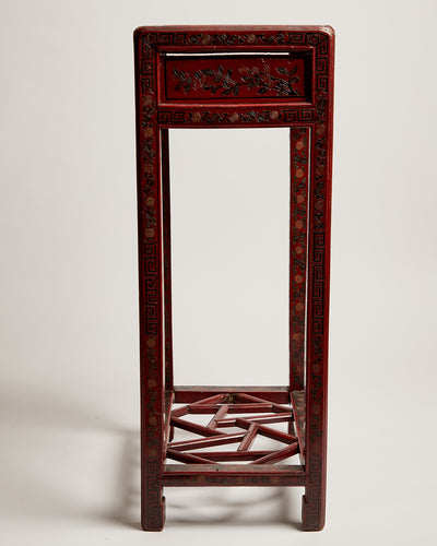 Early 20th Century Chinese Lacquered Wood Tea Service Occasional Table