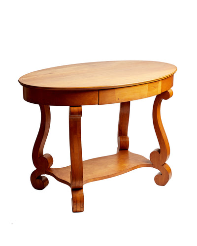 Empire Center Table with Scroll Legs