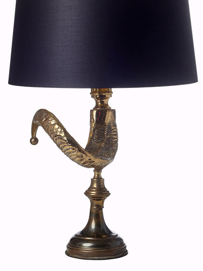 Brass Ram Horn Table Lamp