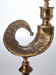 Brass Horn Table Lamp