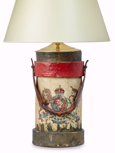 Antique Fire Bucket Table Lamp