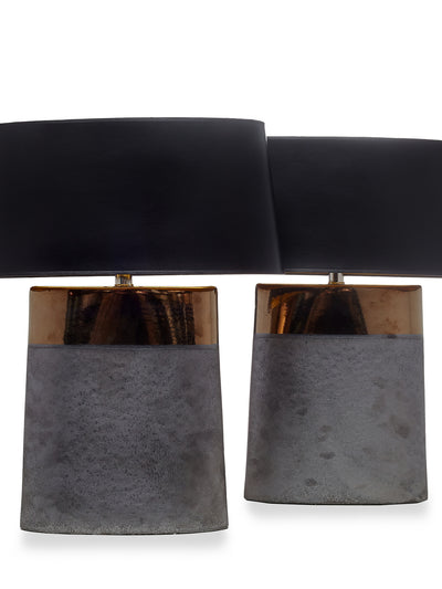 Pair Tribeca Copper Glazed Lamps