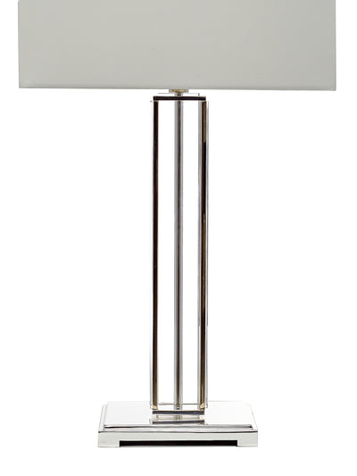 Glass Column Table Lamp