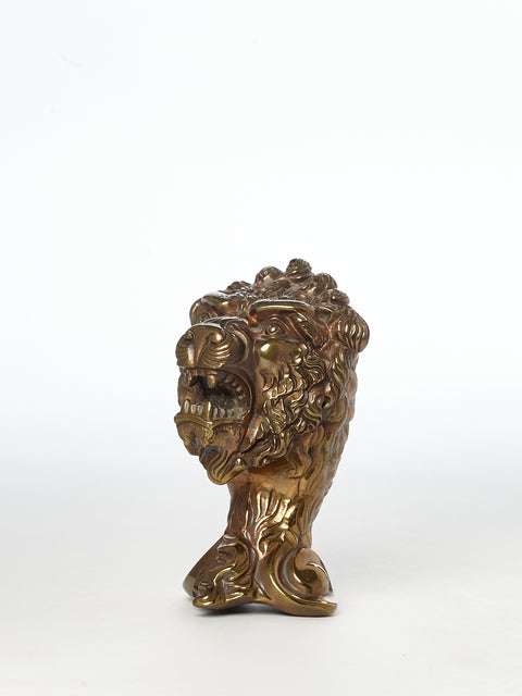 Brass Lion Newel Post English