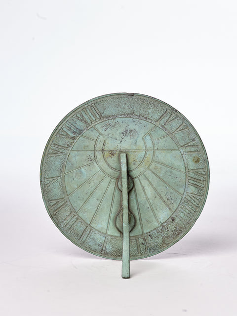 Antique Bronze Verdigris Sundial