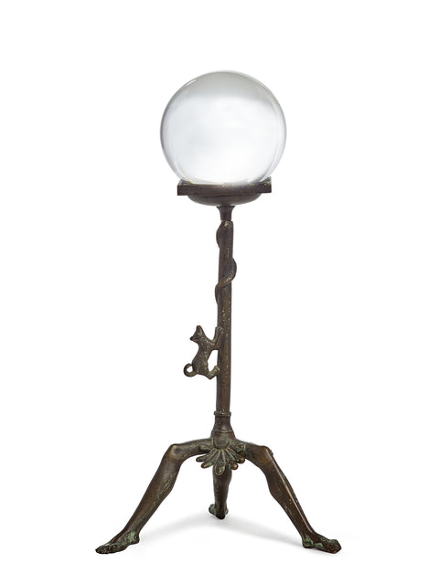 Decorative Stand with Glass Orb