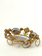 Antique French Grand Tour Eglomise Calling Card Tray Souvenir Circa 1889