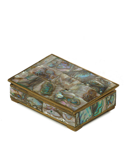 Abalone Box with Silver Casing Mother of Pearl