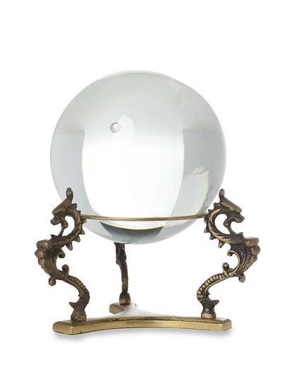 Magic Crystal Ball on Tripod Bronze Base