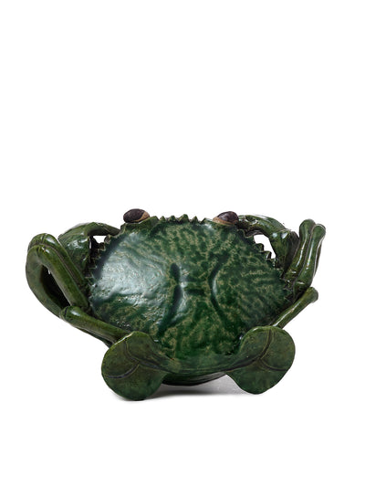 Green Ceramic Crab