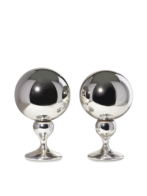 Pair of Mercury Glass Butler Balls circa 1890