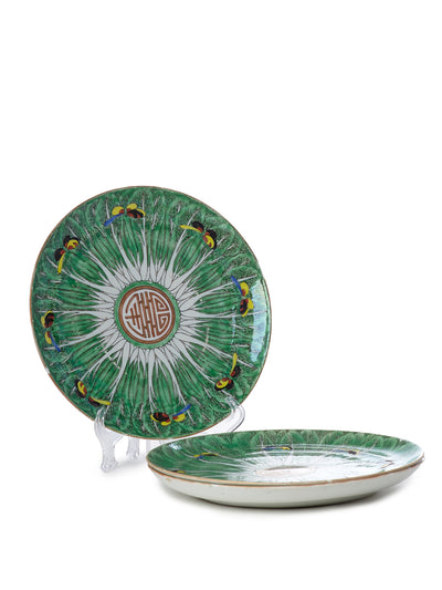 Three 19th Century Cabbage Plates
