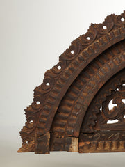 Early Antique 18/19thC Hand Carved Wood Oriental Architectural Fragment