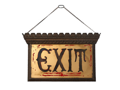 Antique Theater Vaudeville Exit Sign