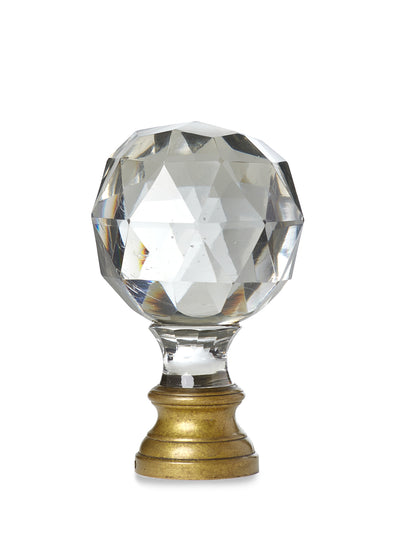 Solid Crystal Faceted Newel Post Finial