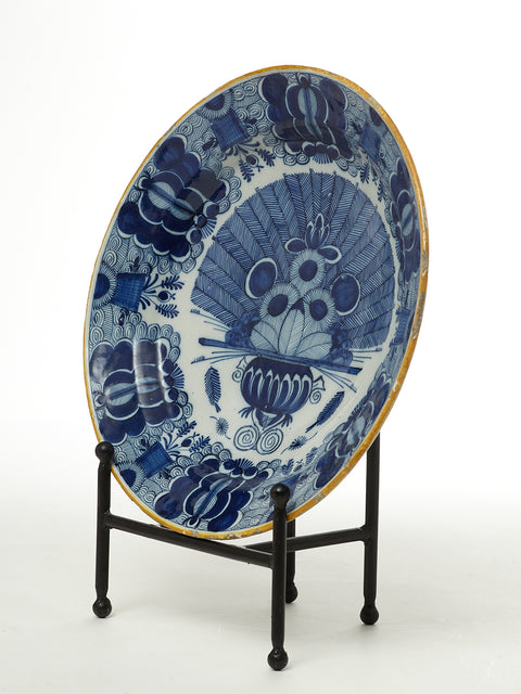 Delft Peacock Charger