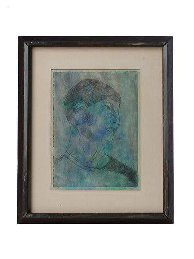 Framed & Signed Cubist Portrait