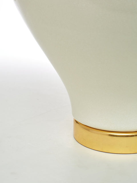 Handmade Ceramic Table Lamp with 24K Gold Base