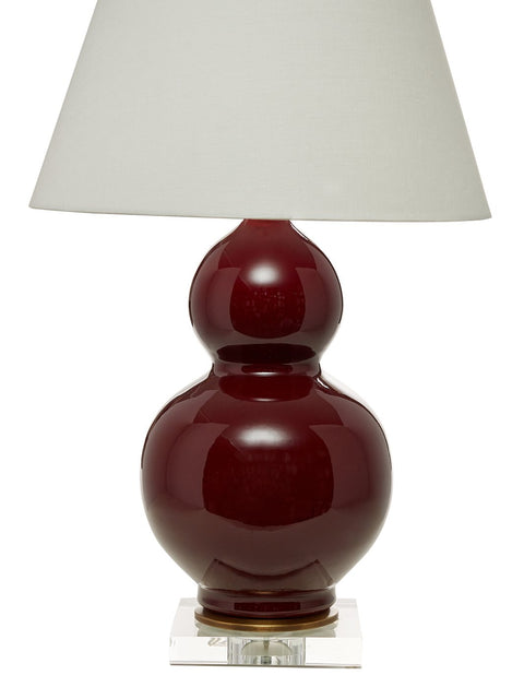 Oxblood Double Gourd Lamp