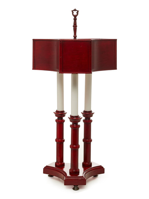 "Red Tole ""bouilotte"" Table Lamp"