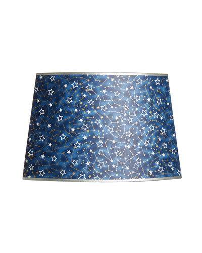 Cut Oval Japanese Starry Night Gaily Colored Lampshade