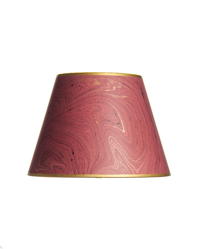 Empire Marble Paper Burgundy and Gold Lampshade