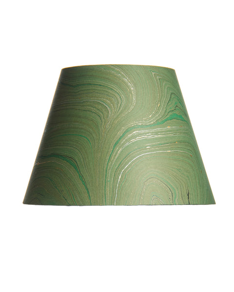 Empire Jute Fiber Paper Dark Green Marble Lampshade