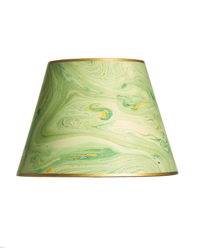 Empire Jute Fiber Paper Green Blue Marble Lampshade