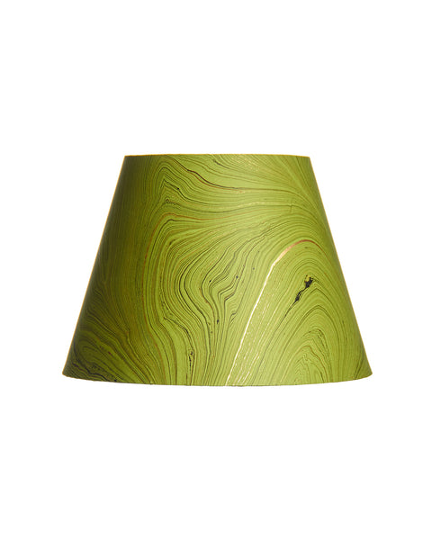 Empire Jute Fiber Paper Pear Green Marble Lampshade